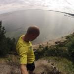 Trail Running Klif Redłowo widok na zatokę gdańską