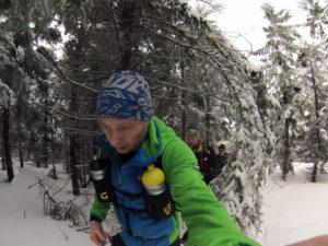 Zimowy Ultramaraton Karkonoski w drodze na Szrenice